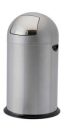 Image for 40L, 52L Steel Push Bins - Silver Grey