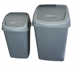 50 LITRE SWING BIN GREY PACK X 12