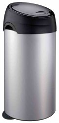 60 LTR SOFT-TOUCH BIN SILVER FINISH,PLASTIC TOP