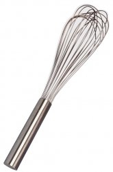 Image for 12 Wire Piano Whisk, Stainless Steel