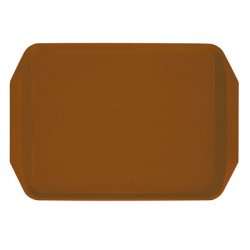 PLASTIC TRAY WITH HANDLES, 435X305MM, BROWN