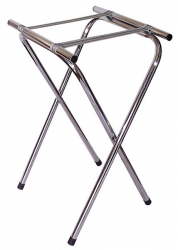 FOLDING TRAY STAND CHROMED