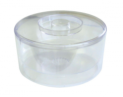ICE BUCKET, 10 LTR, CLEAR PLASTIC,
