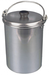 Aluminium Domed Dixie With Lid & Handle. 16pt  9.0 ltrs