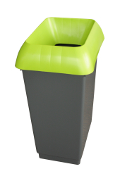 50LTR RECYCLING BIN COMP WITH LIME LID