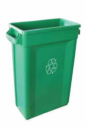 87l Container Green Recycling Logo 50.7 x 27.2 x 75.6cm