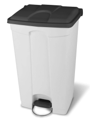 STEP-ON CONTAINER 90L WHITE GRY LID