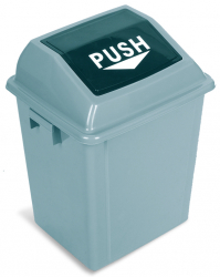 SWING TOP BIN 40L - 10 4/7 Gal GREY