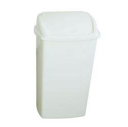 50 LITRE SWING TOP BIN, WHITE