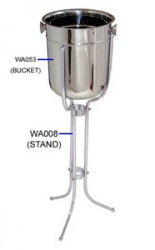 STAINLESS STEEL WINE ICE BUCKET, 12.8 PT